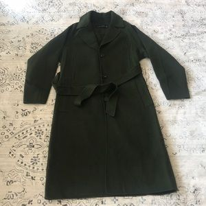 New w/o tags ZARA wool coat - green XS